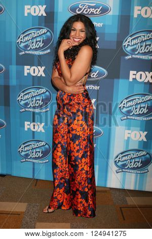 LOS ANGELES - APR 7:  Jordin Sparks at the American Idol FINALE Arrivals at the Dolby Theater on April 7, 2016 in Los Angeles, CA