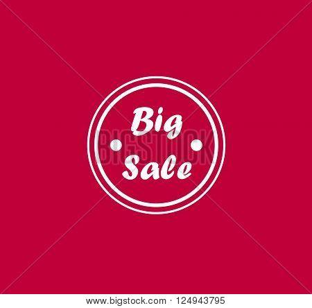 Modern badge - White Big Sale Badge