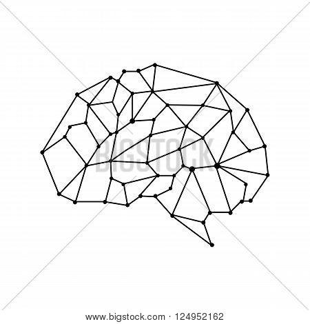 vector brain mesh isolate background. illustration vector design