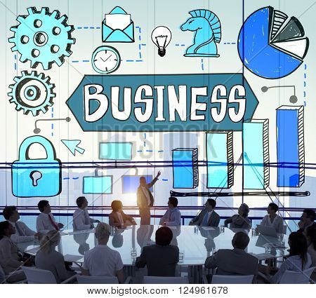 Business Corporate Organization Management Development Concept