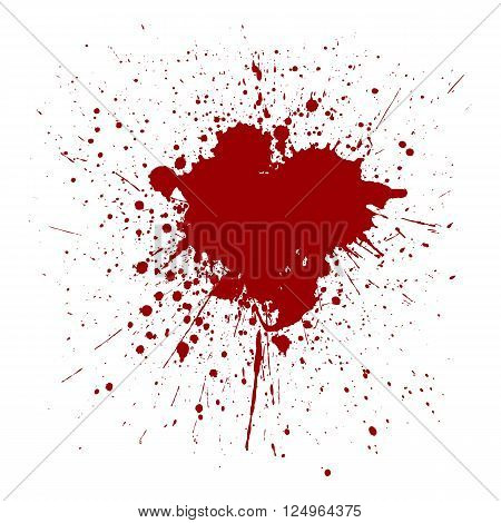 vector splatter red color background. illustraition vector design