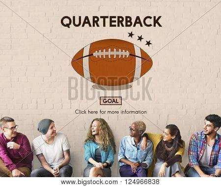 Quarterback Halfback Offense Passion Sport Stadium Concept