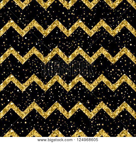 Sparkle Abstract Seamless Pattern Background. Golden Glitter Texture.