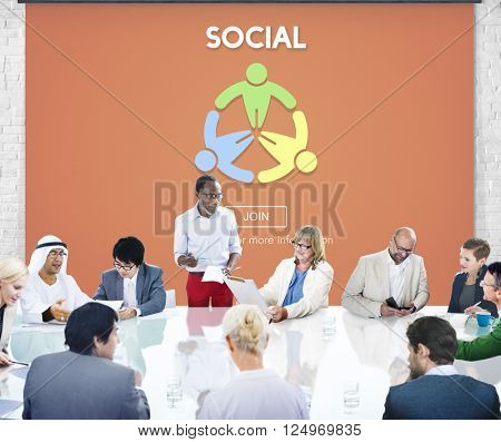 Social Socialize Society Unity Community Global Concept poster