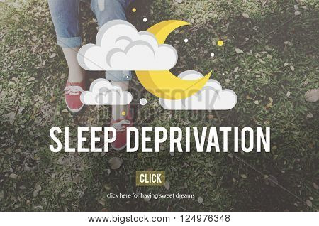 Sleep Deprivation Insomnia Problem Narcolepsy Concept