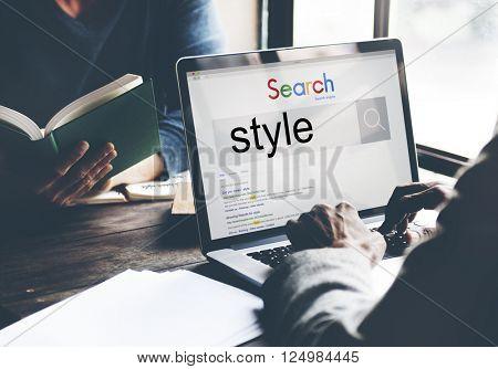 Style Trendy Fashionista Designer Chic Conecpt
