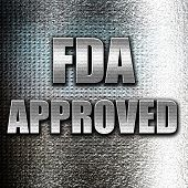 Grunge metal FDA approved background with some smooth lines poster