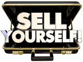 Sell Yourself Briefcase Self Promotion Success 3d Words poster