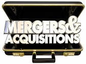 Mergers and Acquisitions Briefcase Business Company Consolidation Offer Buyout poster