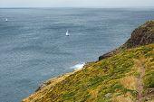 Cap Frehel (Cotes-d'Armor Brittany France): the coast at summer poster
