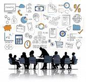 Business Plan Budget Target Tactics Ideas Concept poster
