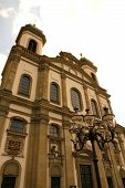 The Jesuit Church in Lucerne Switzerland Europe. The Church was built between 1666 and 1677. poster
