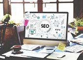 Searching Engine Optimizing SEO Browsing Concept poster