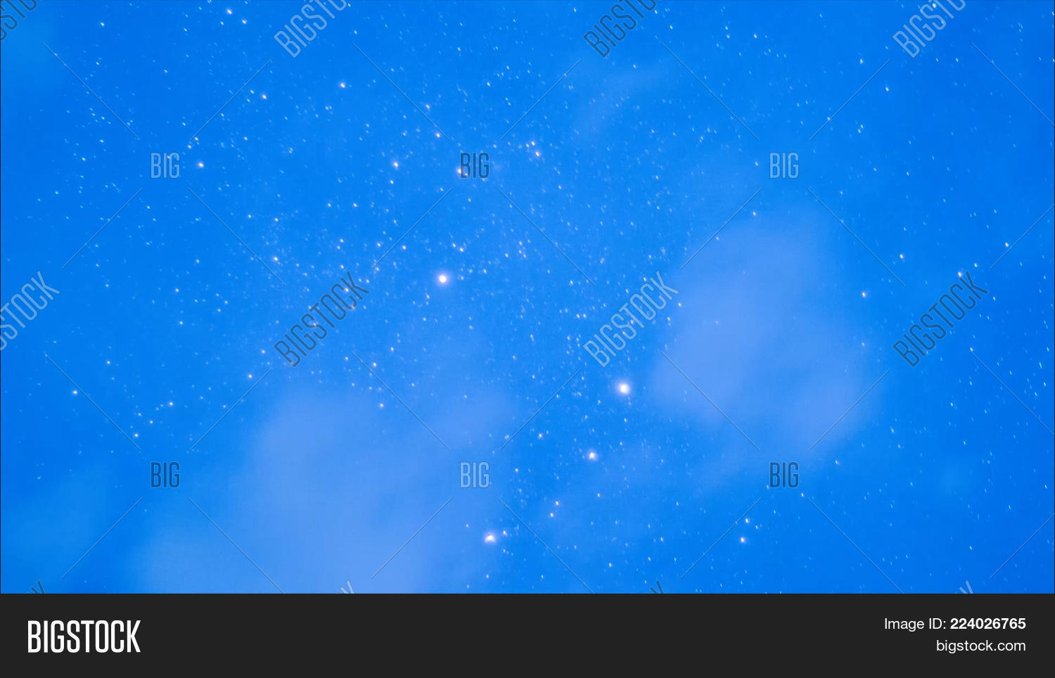 Beautiful Night Sky And Stars With Meteor Or Shooting Star As Background Video Animation