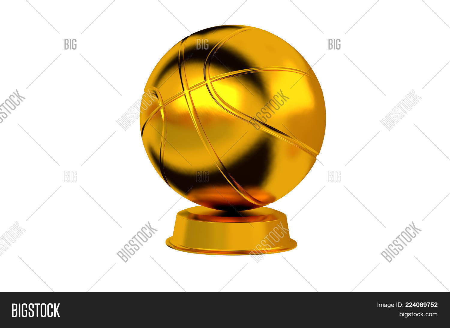 Basketball Trophy PowerPoint Template