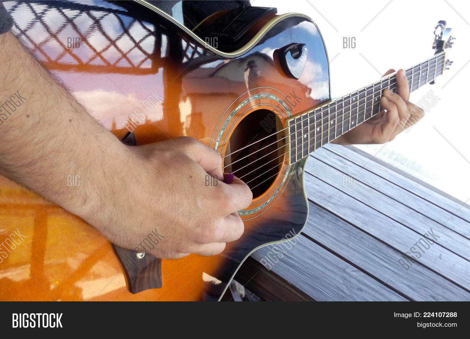 Guitar Hands Guitarist Image Photo Free Trial Bigstock