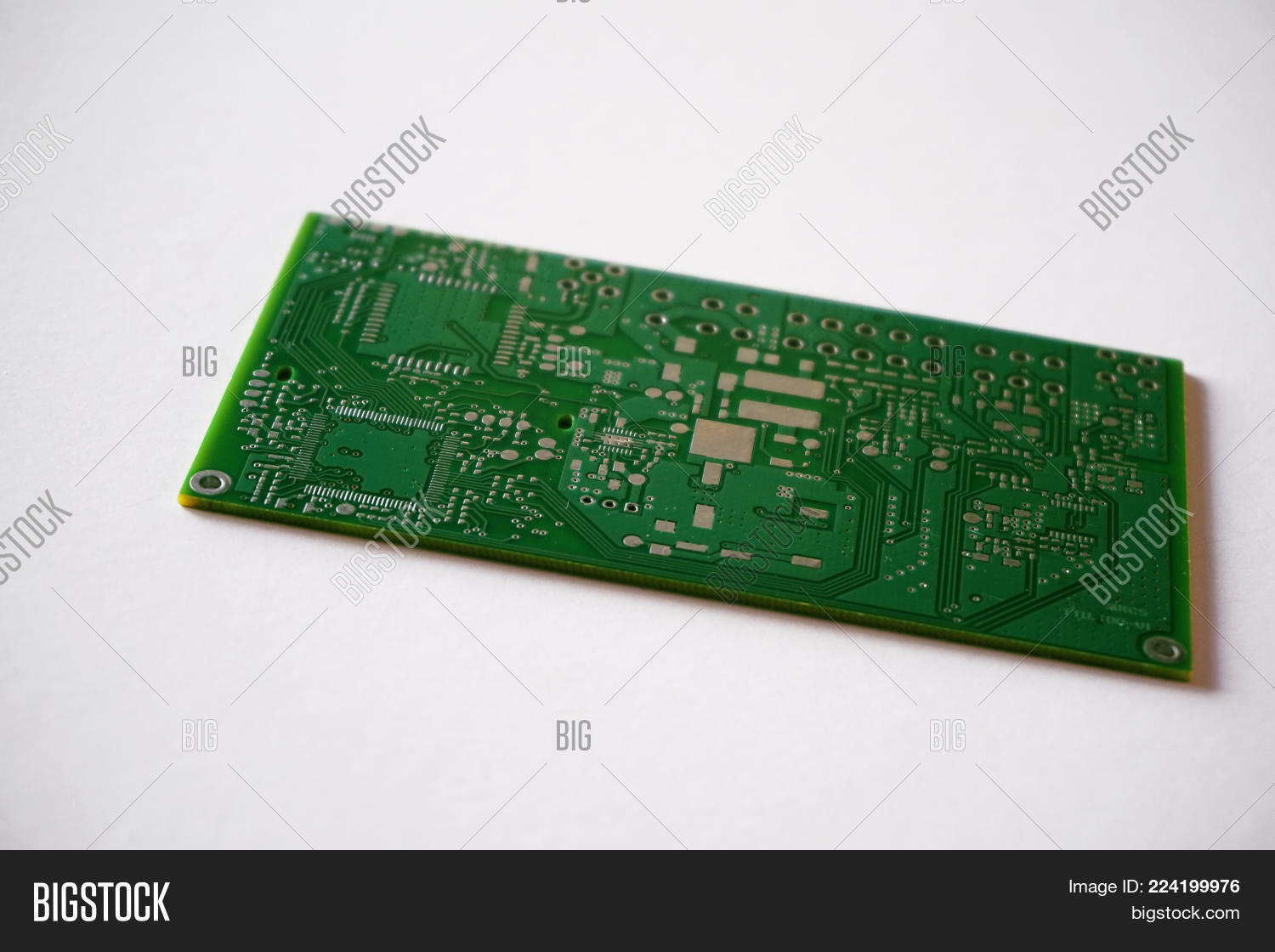 Board Printed Circuit Pcb White Powerpoint Template P