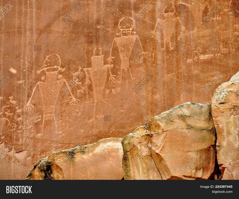 petroglyphs native american indian powerpoint template petroglyphs