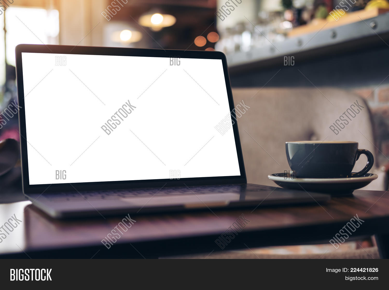 Technology blank mockup laptop PowerPoint Template - Technology ...