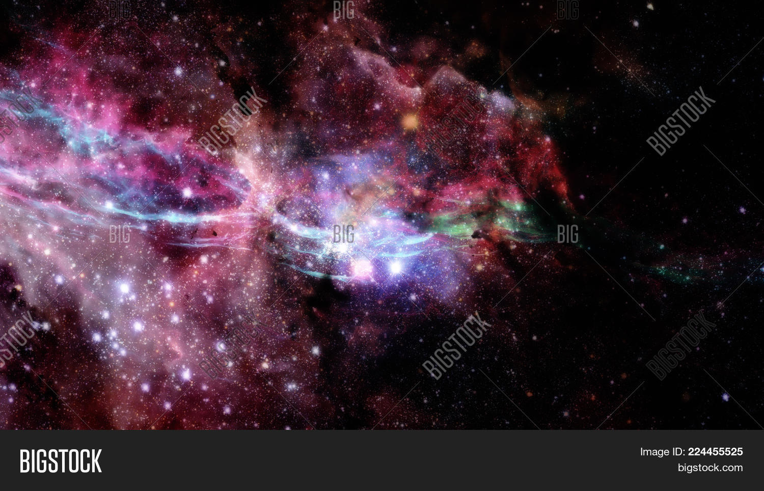 abstract stars universe filled powerpoint template abstract stars