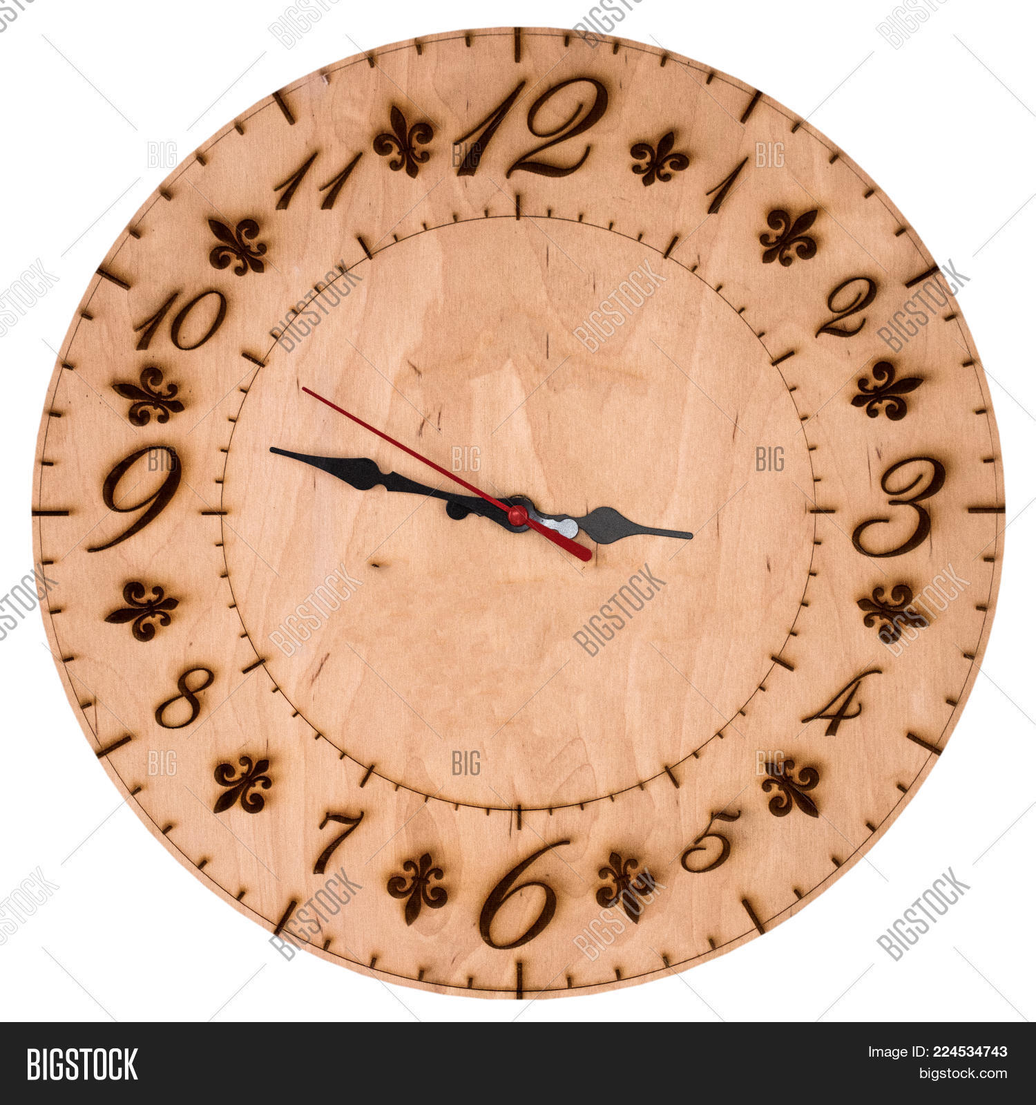 Appointment wooden wall clock PowerPoint Template - Appointment ...