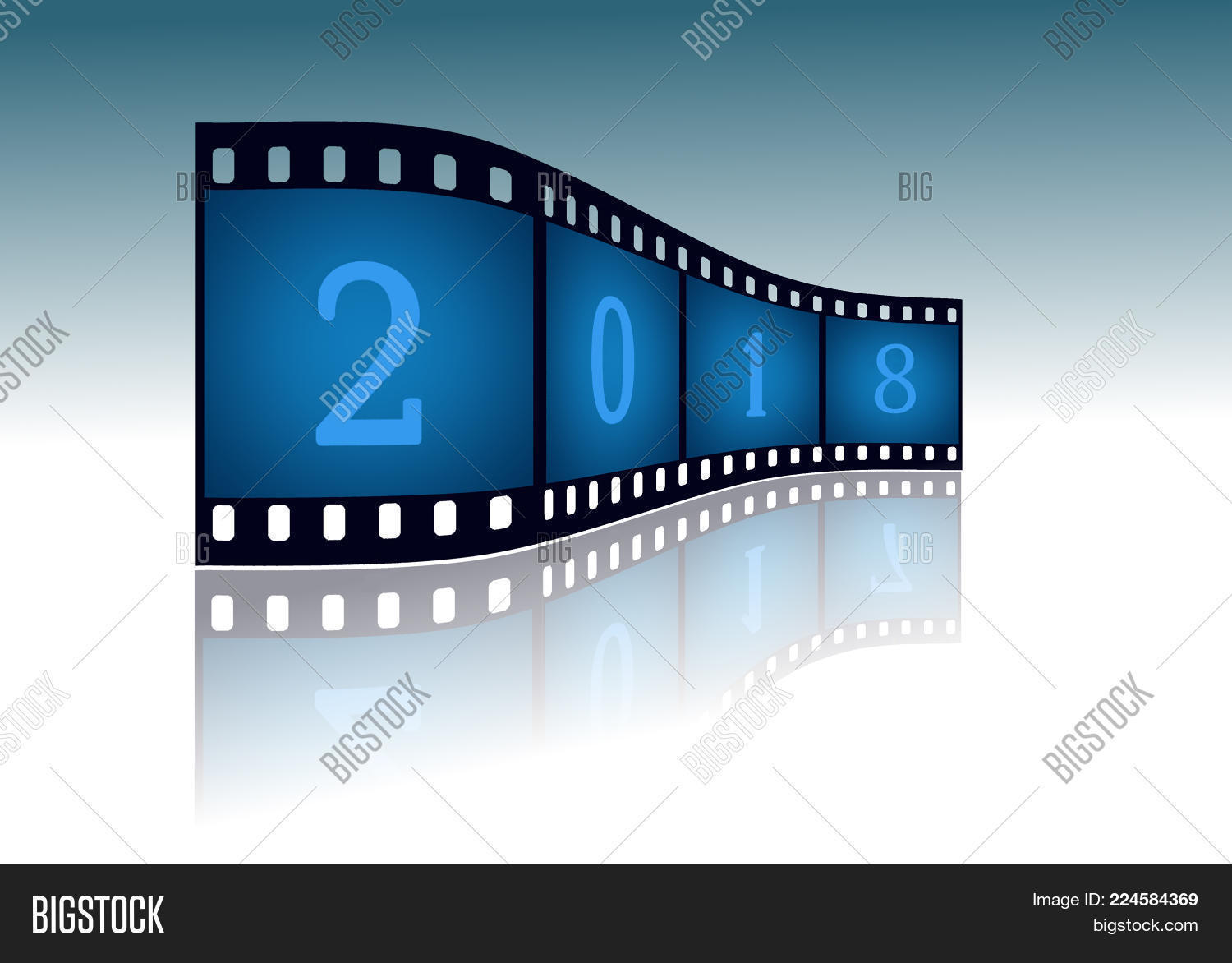 Film strip with date PowerPoint Template - Film strip with date ...