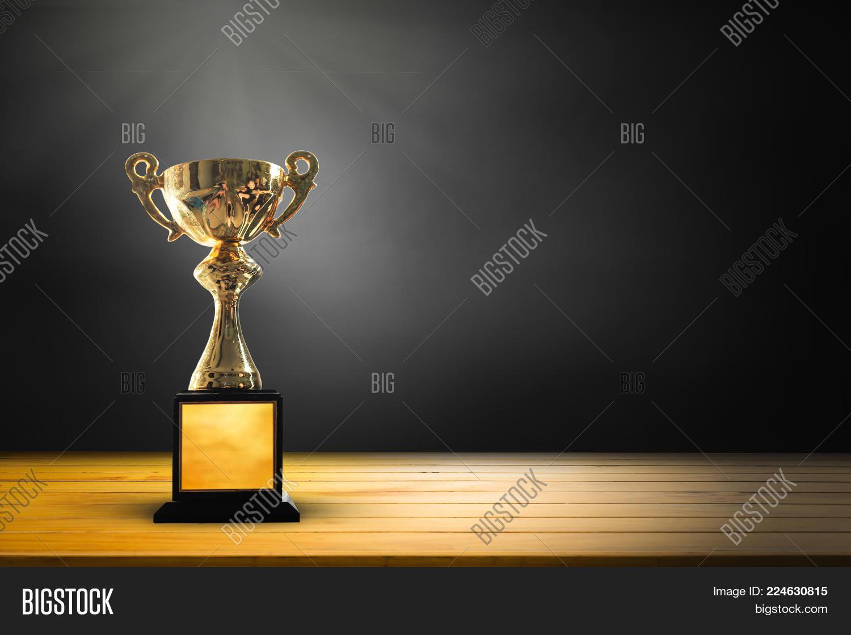 Champion Golden Trophy PowerPoint Template