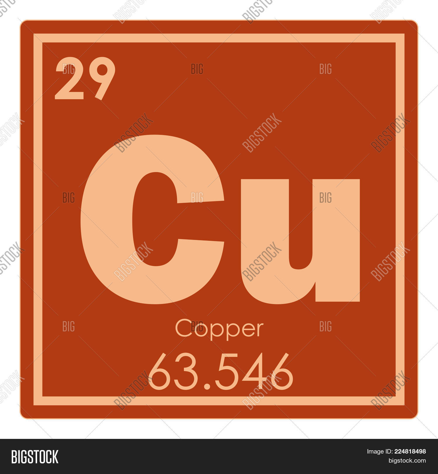 copper chemical element periodic table science symbol - Periodic Table Copper Symbol