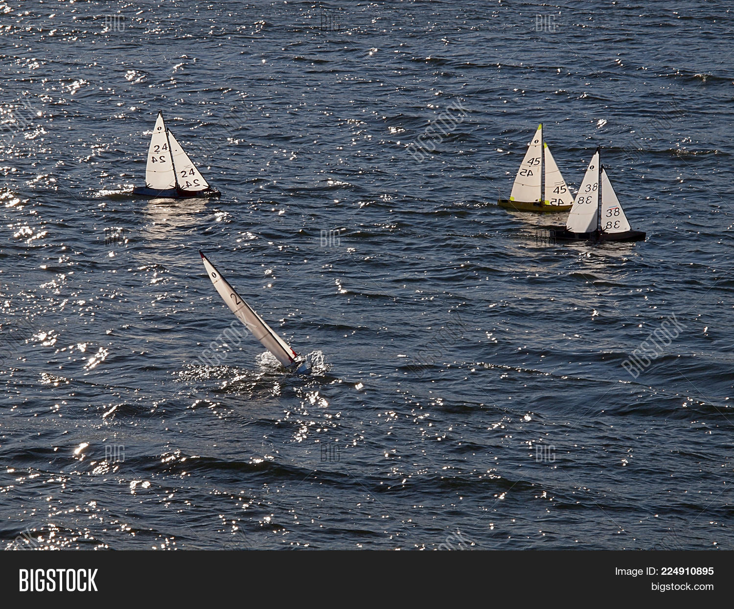 Small Sailboats On Big Image & Photo (Free Trial) | Bigstock