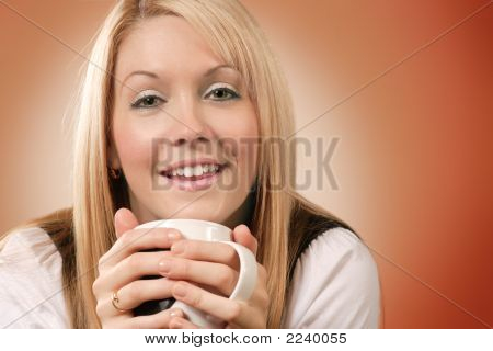 Happy Coffee Drinker 2