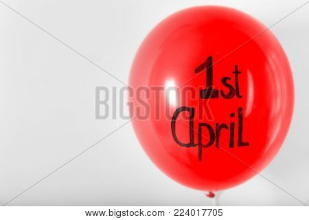 Red balloon with phrase