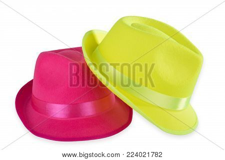 Two Party hats isolated on white background