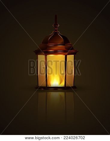 vector illustration lanterns for Diwali festival of lights or Ramadan and light.  Chinese flying lanterns