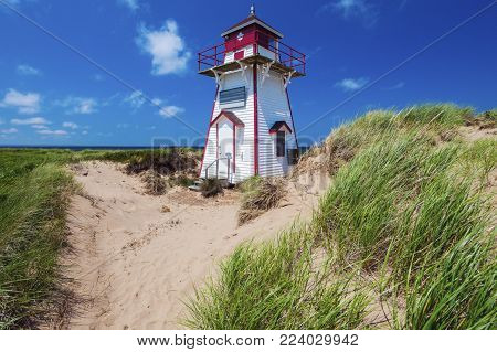 Covehead Harbour Lighthouse On Prince Edward Island. Prince Edward Island, Canada.
