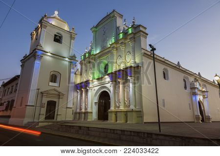 La Merced Church In Leon, Nicaragua. Leon, Nicaragua.