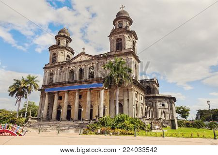 Old Cathedral Of Managua In Nicaragua. Managua, Nicaragua.