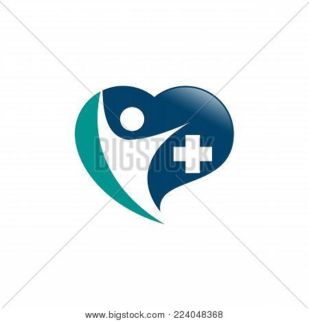 Medical logo, medical center logo,heart logo, health logo, doctor logo, medicine logo, medical icon.