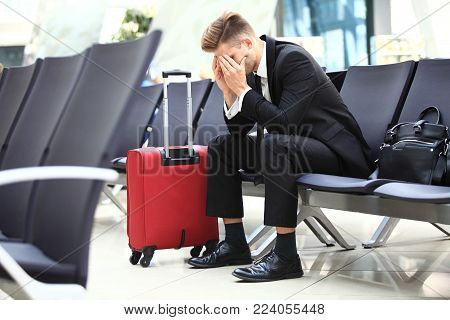 delayed flight - Business People Airport Terminal Travel Departure Concept