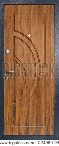 Door Entrance Heavy Metal With Two Locks.
