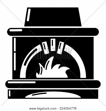 Blast furnace icon. Simple illustration of blast furnace vector icon for web.