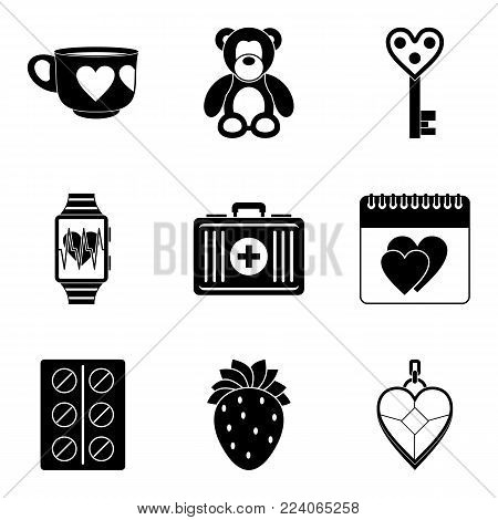 Warmth icons set. Simple set of 9 warmth vector icons for web isolated on white background