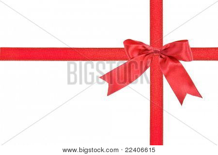 holiday ribbon bow with copy space for your text