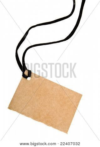 paper label isolated on white background