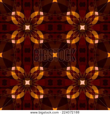 Dark orange brown modern abstract texture. Textile print seamless tile pattern. Detailed background illustration. Home decor fabric design sample. Tileable motif for cushions, tablecloths, drapes etc.