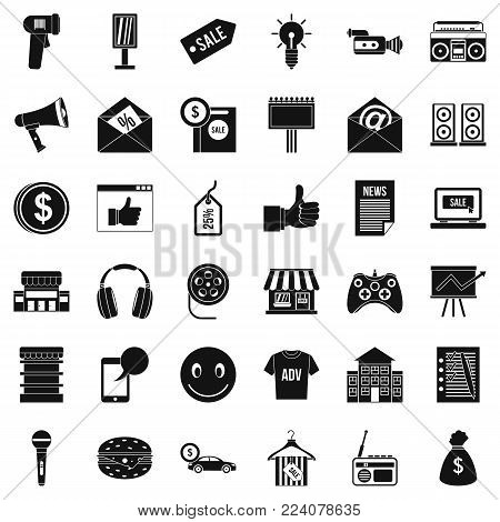 Selling icons set. Simple set of 36 selling vector icons for web isolated on white background