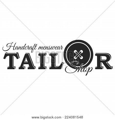 Tailor or sewing shop lable black on white