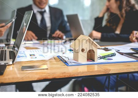 Working as a teamwork of real estate businesses.