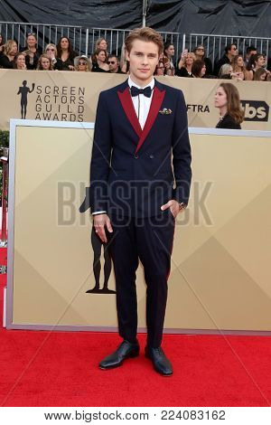 LOS ANGELES - JAN 21:  Logan Shroyer at the 24th Screen Actors Guild Awards - Press Room at Shrine Auditorium on January 21, 2018 in Los Angeles, CA