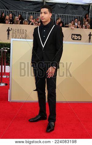 LOS ANGELES - JAN 21:  Marcus Scribner at the 24th Screen Actors Guild Awards - Press Room at Shrine Auditorium on January 21, 2018 in Los Angeles, CA