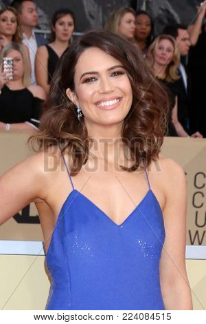 LOS ANGELES - JAN 21:  Mandy Moore at the 24th Screen Actors Guild Awards - Press Room at Shrine Auditorium on January 21, 2018 in Los Angeles, CA